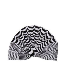 NWT Missoni turban black and whit chevron zig zag